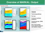overview of markal output4
