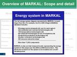 overview of markal scope and detail1