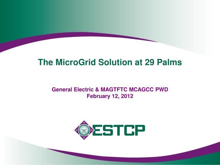The microgrid solution at 29 palms