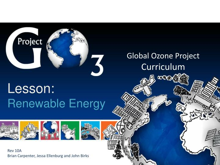 ppt global ozone project curriculum powerpoint presentation id