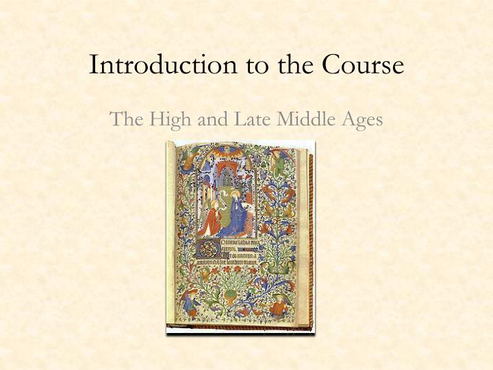 introduction to the course n.