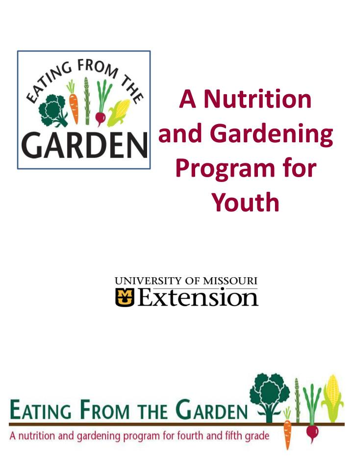 a nutrition and gardening program for youth n.