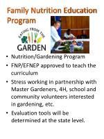 family nutrition education program
