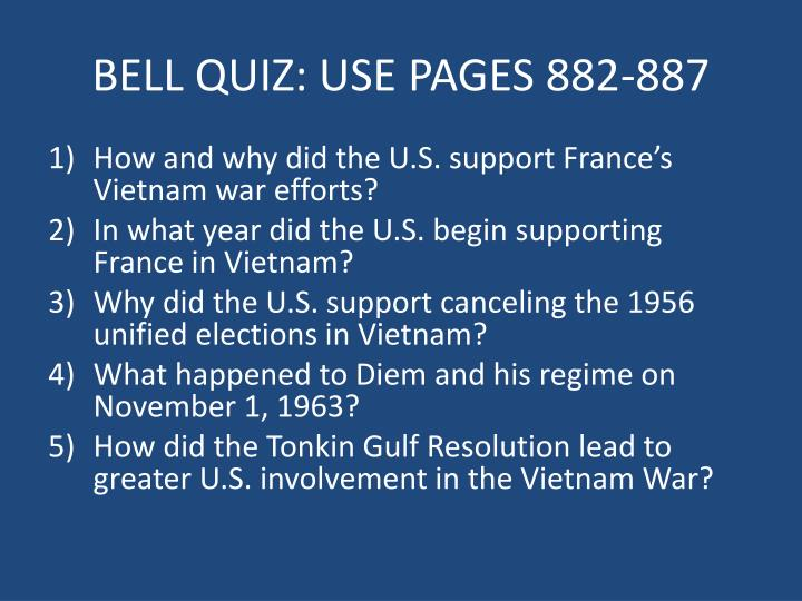 bell quiz use pages 882 887 n.
