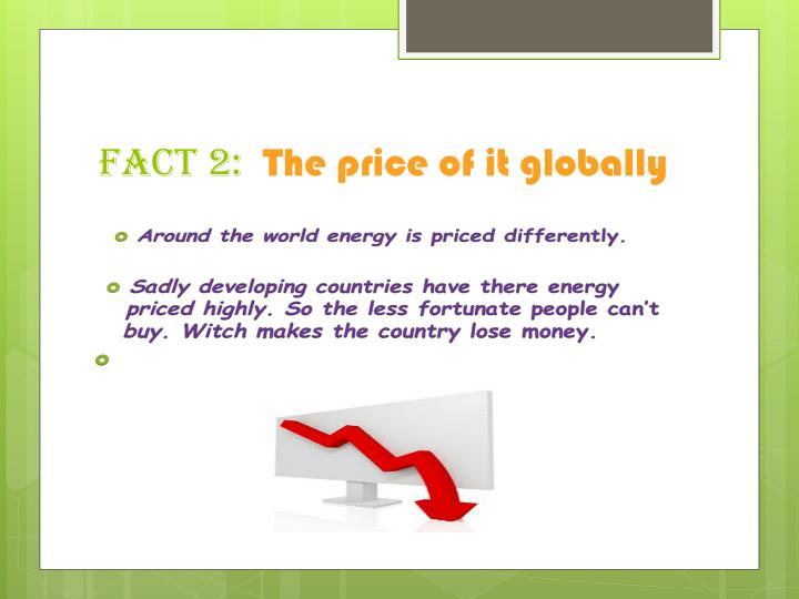 Fact 2 the price of it globally