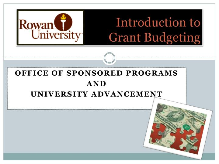introduction to grant budgeting n.