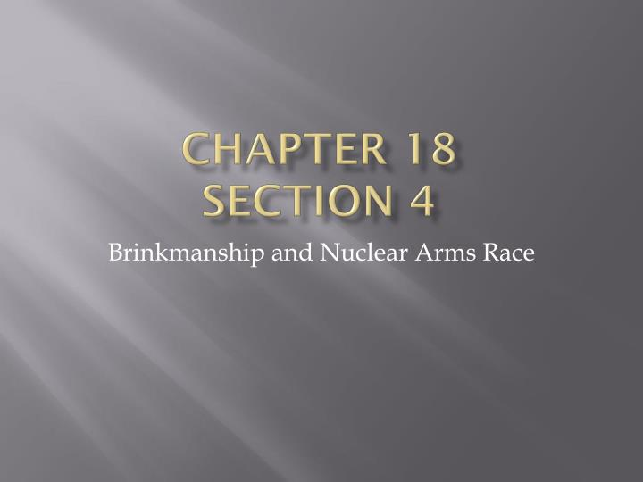 Chapter 18 section 4
