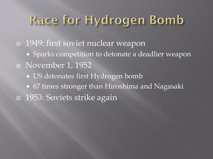 Race for hydrogen bomb