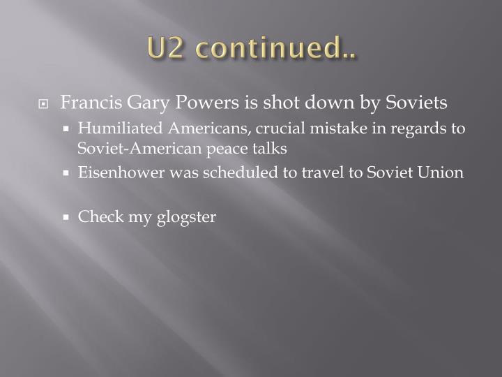 U2 continued..