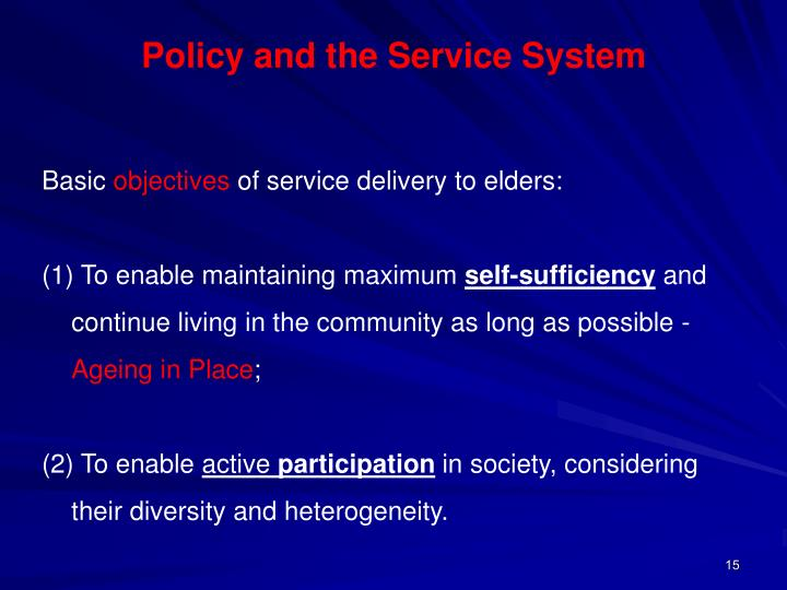 Policy and the Service System