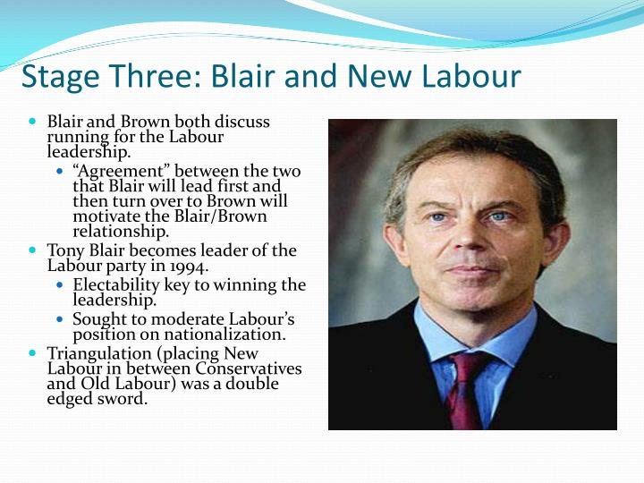 Stage Three: Blair and New Labour