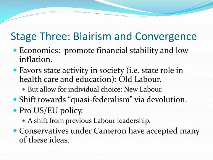 Stage Three: Blairism and Convergence