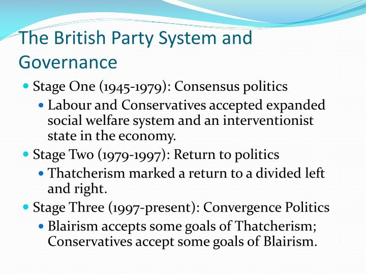 The British Party System and Governance