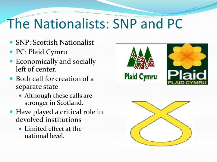 The Nationalists: SNP and PC