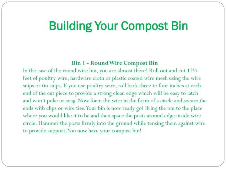 Building Your Compost Bin