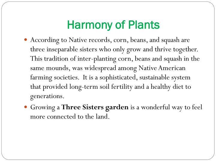 Harmony of Plants