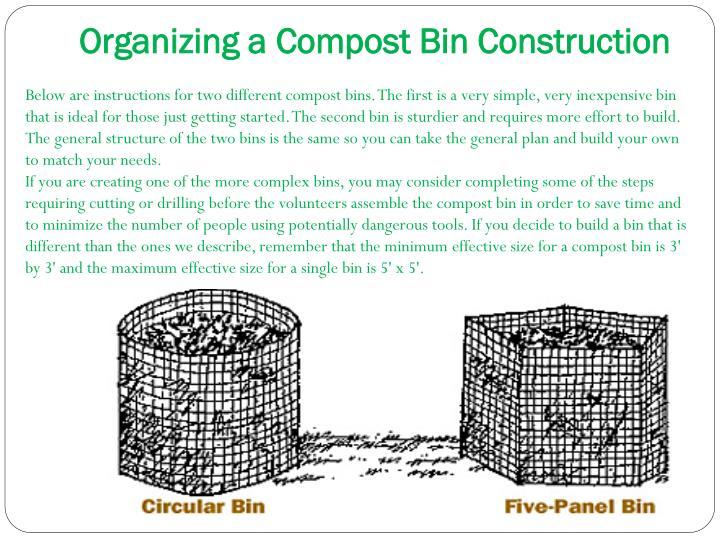Organizing a Compost Bin Construction