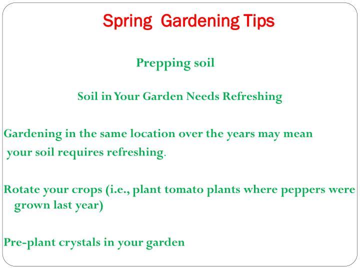 Prepping soil