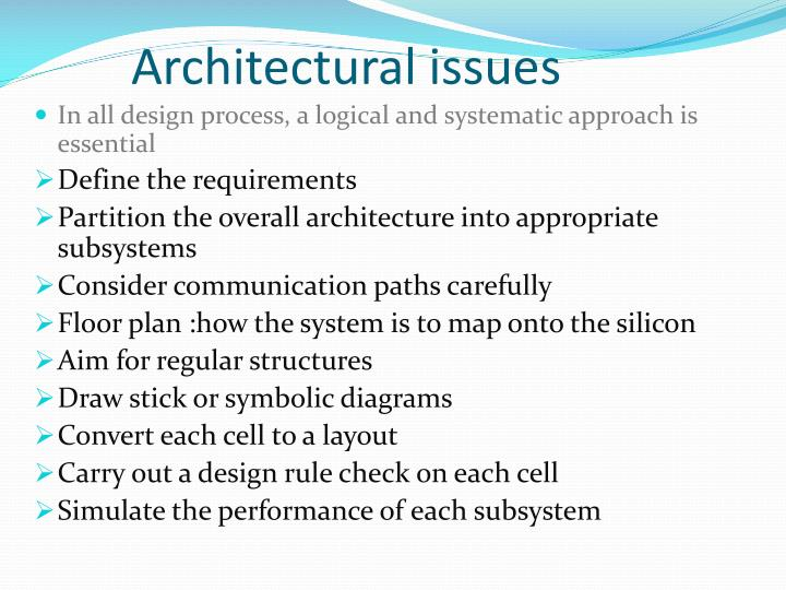 Ppt unit 5 cmos subsystem design powerpoint for Architectural design issues