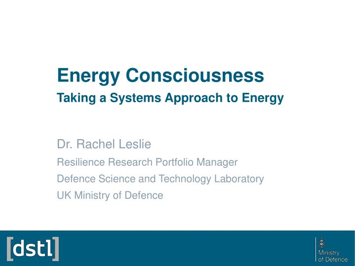 energy consciousness taking a systems approach to energy n.