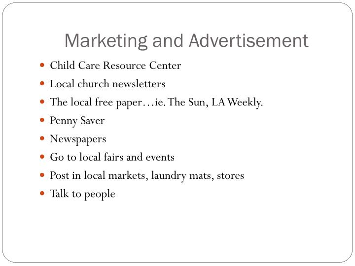 marketing and advertisement n.