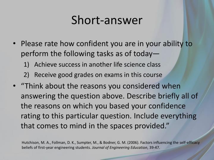 Short-answer
