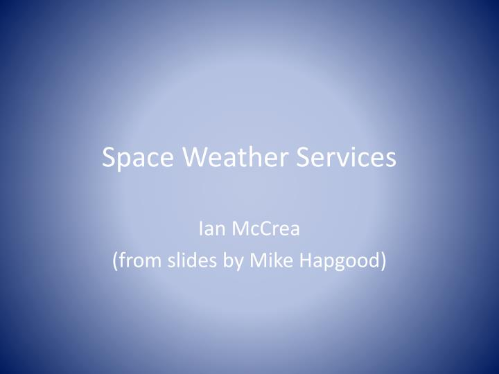 space weather services n.