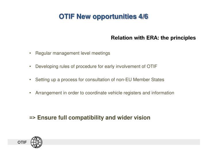 OTIF New opportunities 4/6
