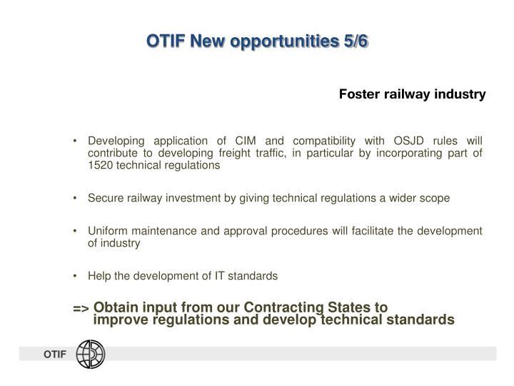 OTIF New opportunities 5/6