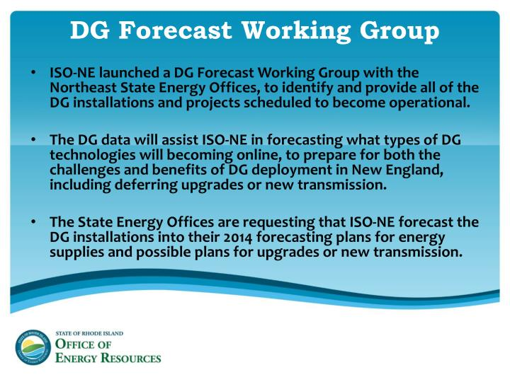 DG Forecast Working Group