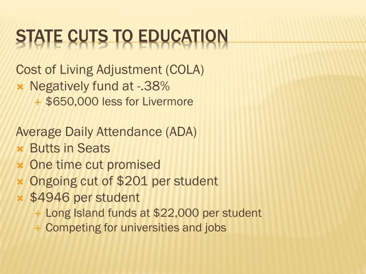 Cost of Living Adjustment (COLA)