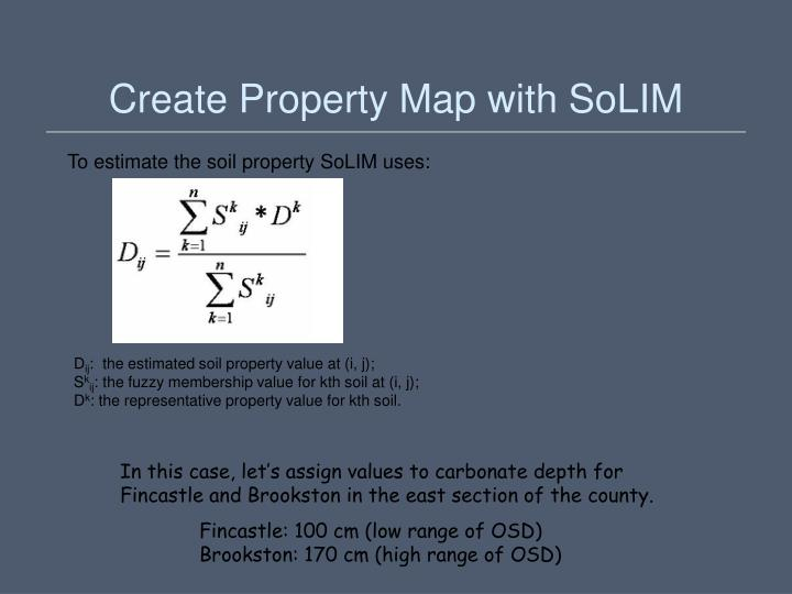 Create Property Map with SoLIM