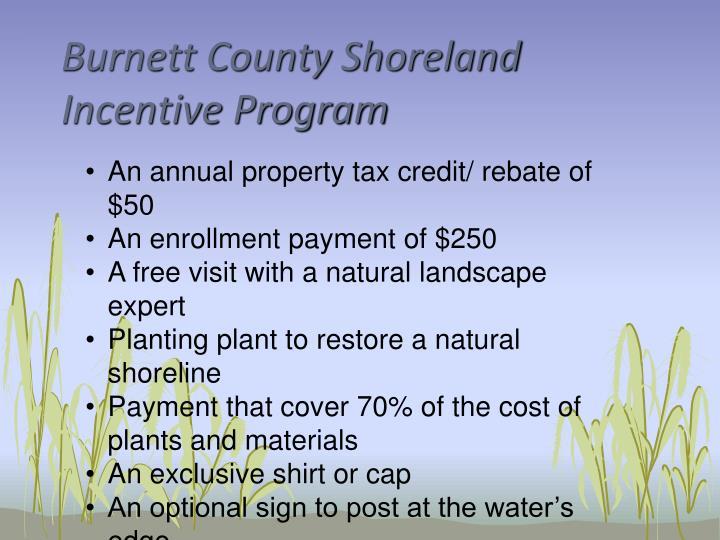 Burnett County Shoreland Incentive Program