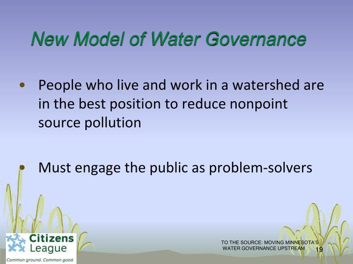 New Model of Water Governance