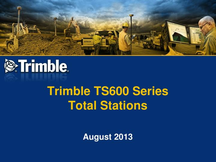 trimble ts600 series total stations n.