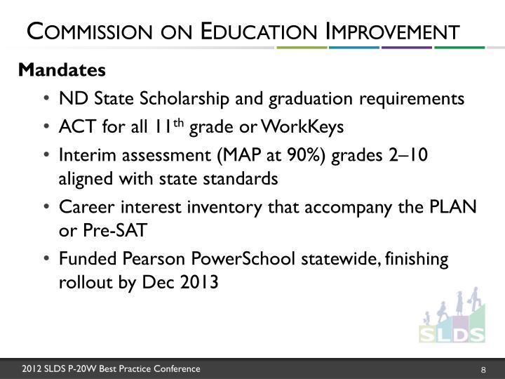 Commission on Education Improvement