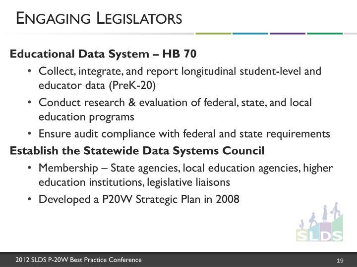 Engaging Legislators