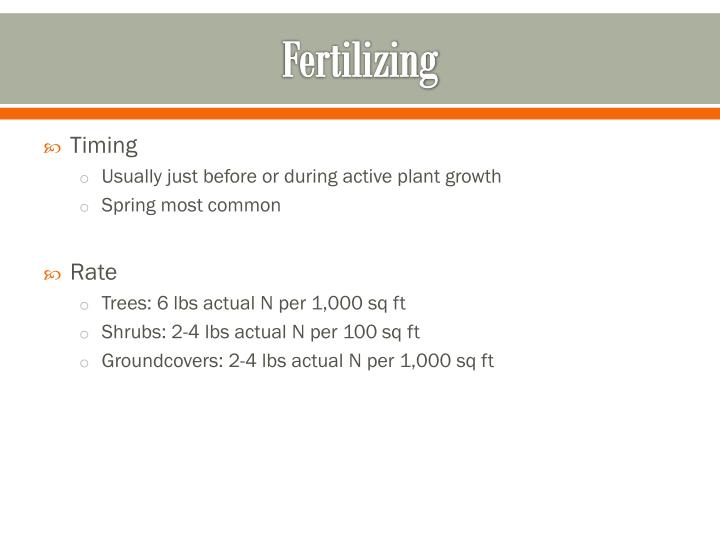 Fertilizing