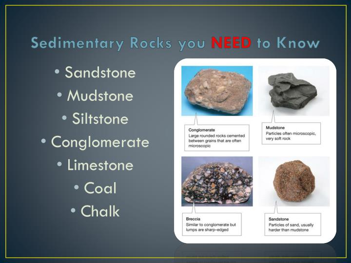 Sedimentary Rocks you