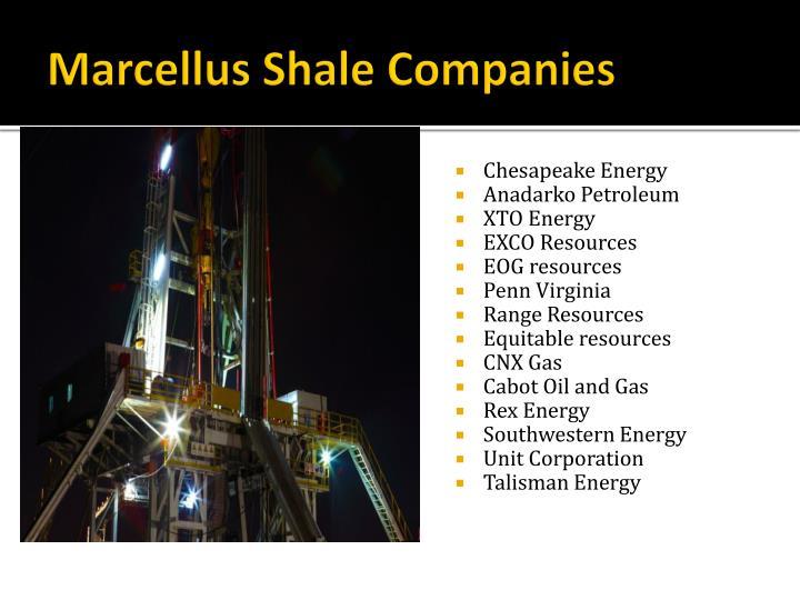 Marcellus Shale Companies