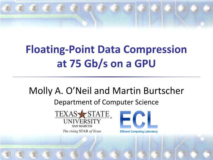 floating point data compression at 75 gb s on a gpu n.