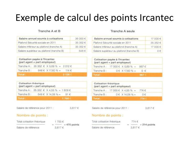 Exemple de calcul des points