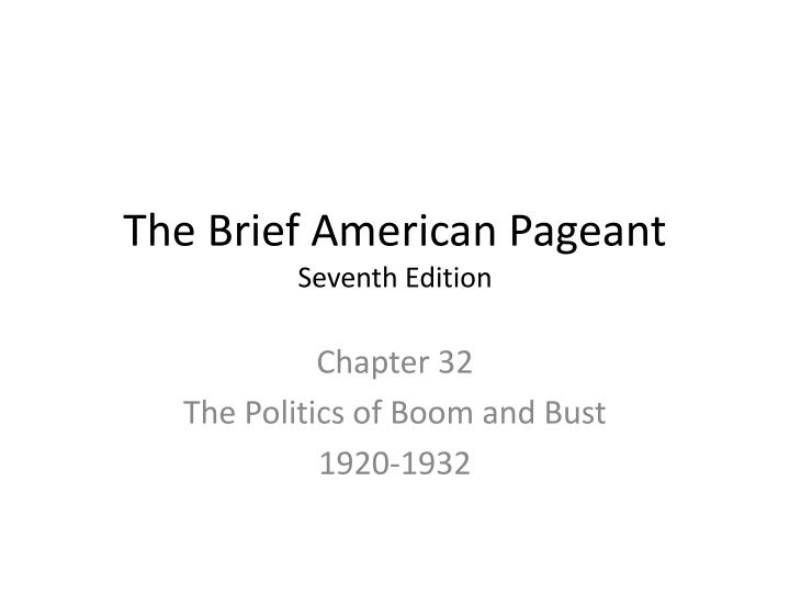 the brief american pageant seventh edition n.