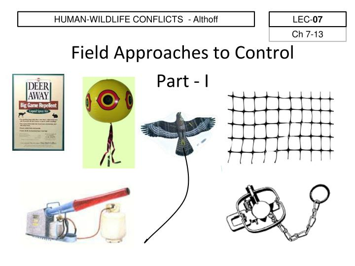 field approaches to control part i n.