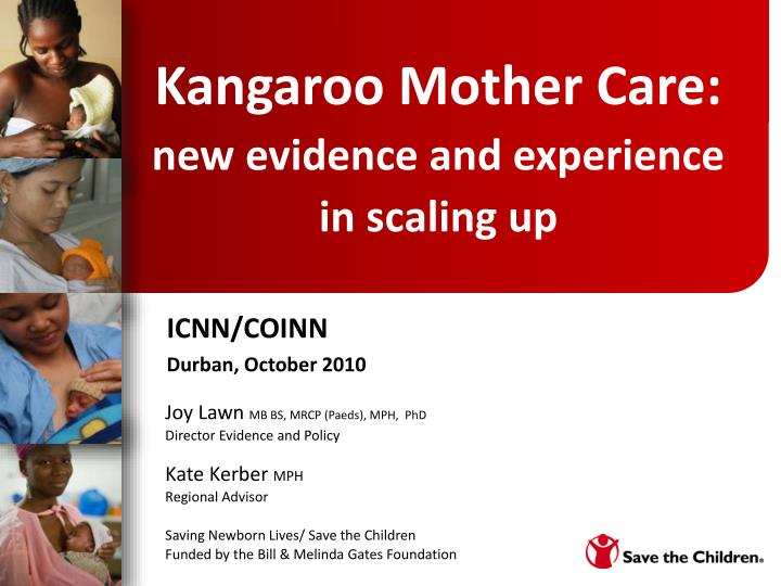kangaroo mother care new evidence and experience in scaling up n.
