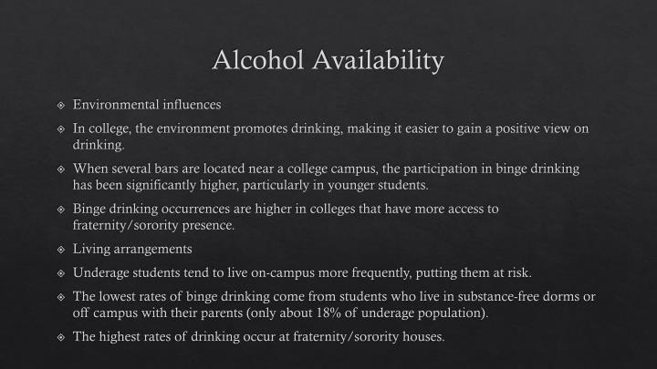 Alcohol Availability