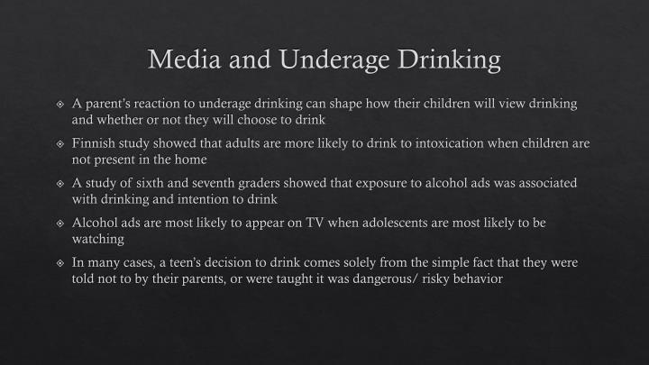 Media and Underage Drinking