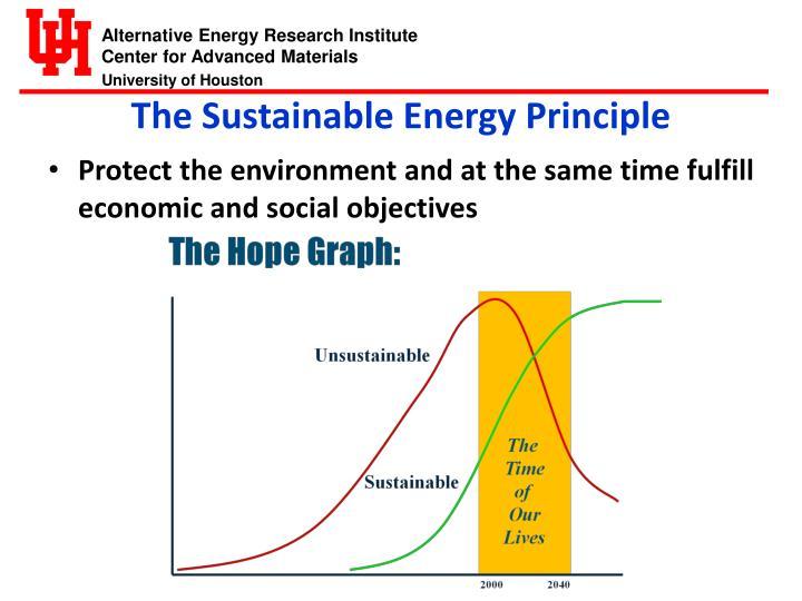 The Sustainable Energy Principle