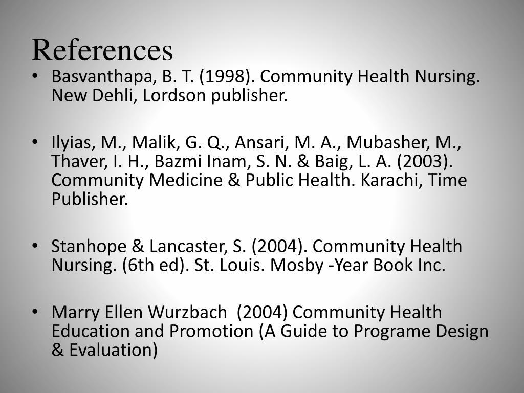 PPT - Basic concepts of Community & Health Nursing-I