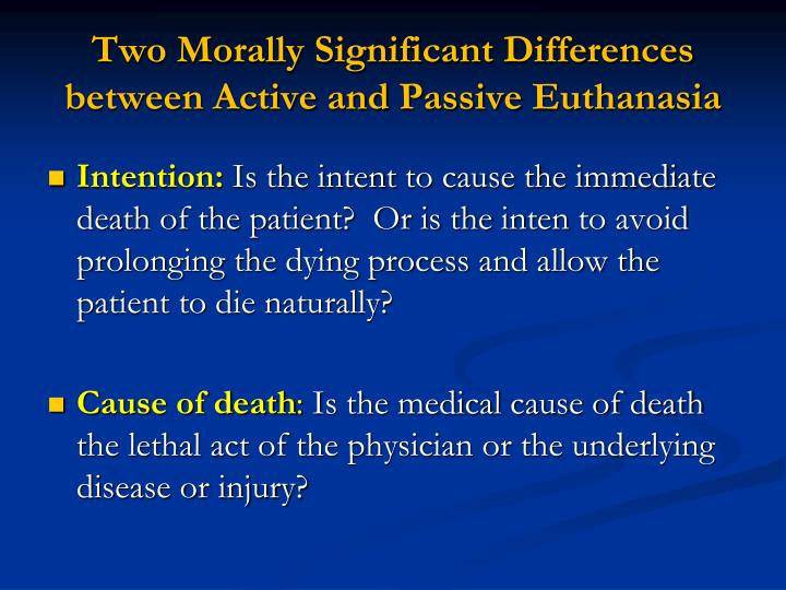 Two Morally Significant Differences
